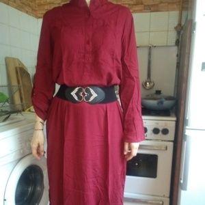 Casual long sleeve long dress
